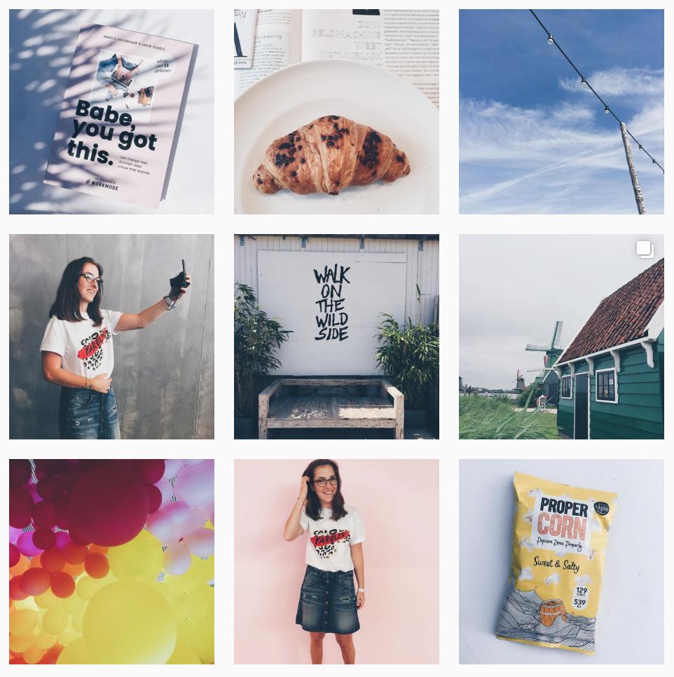 Ideaalbeelden op Instagram