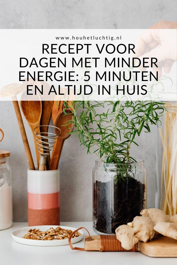 Recept voor dagen met minder energie
